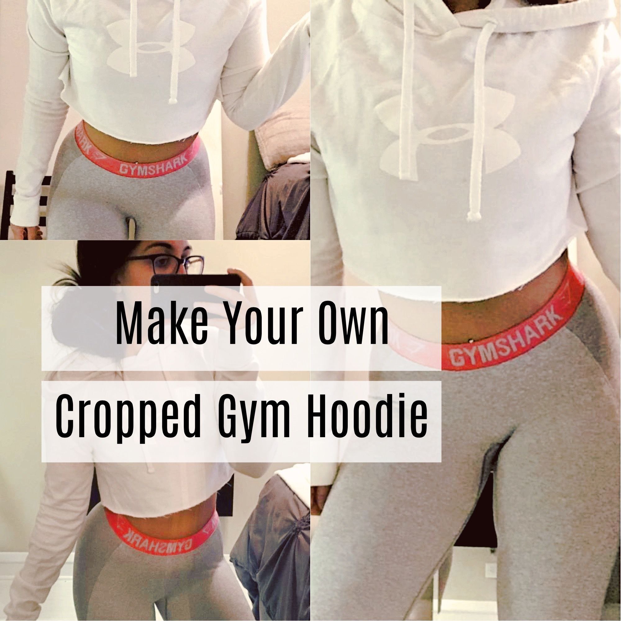 Diy Cropped Gym Hoodie Five Steps Diy Gym Clothes Diy