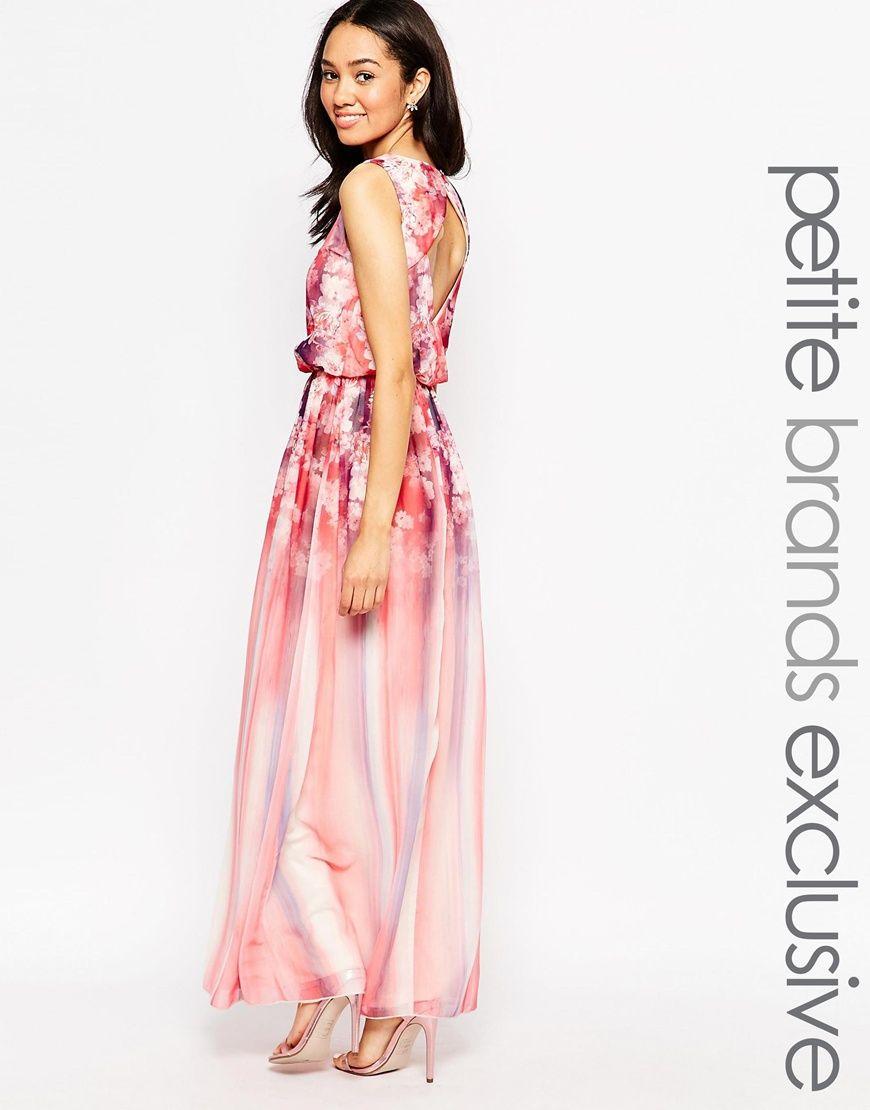 9f15b2566 Petite Pink Floral Print Maxi Dress - raveitsafe