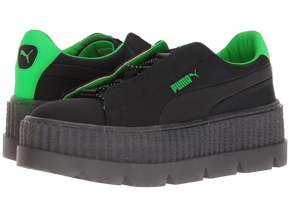 8b4e83ef6a3 PUMA Puma x Fenty by Rihanna Cleated Creeper Surf Women s Shoes Puma Black Green  Gecko Puma Black