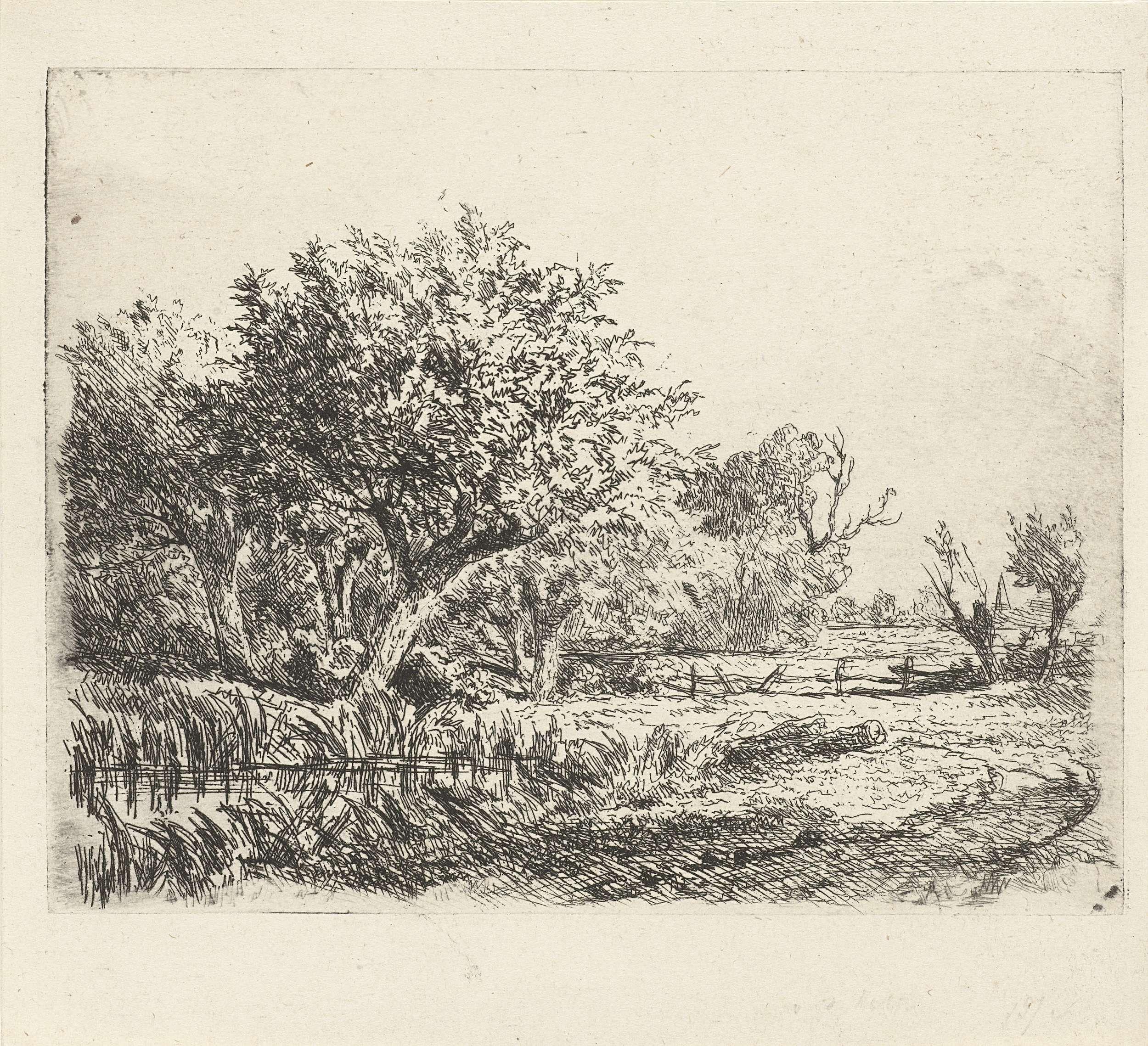 Adrianus van Everdingen | Wilgen bij een poel, Adrianus van Everdingen, 1842 - 1912 |
