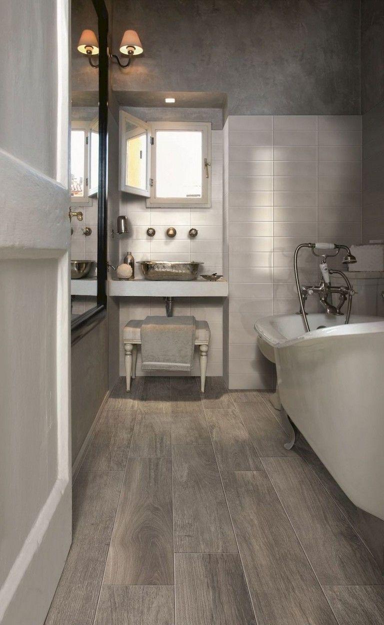 63 Luxury Farmhouse Bathroom Shower Decor Ideas And Remodel To Inspire Your Bathroom Bathr Wood Tile Bathroom Wood Look Tile Bathroom Ceramic Wood Tile Floor