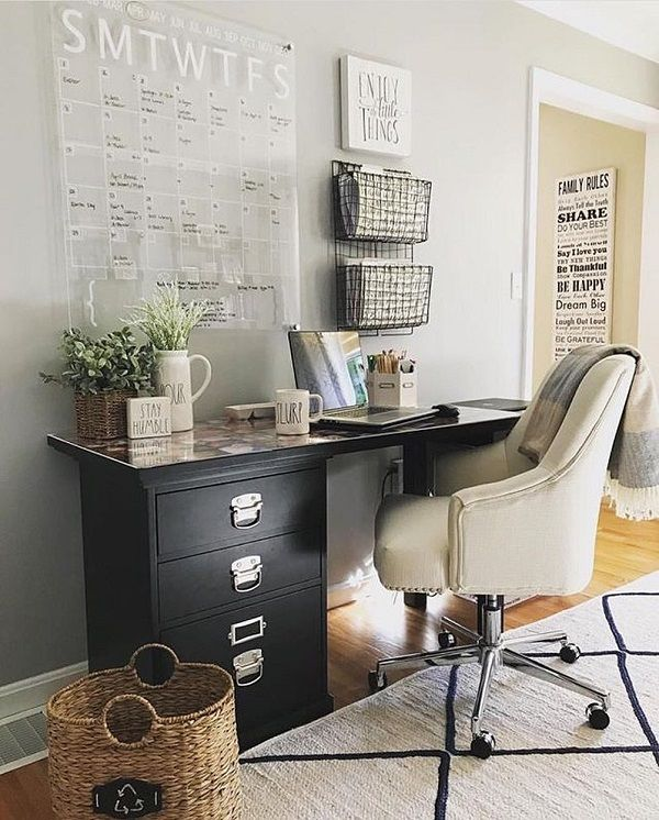 100 Charming Farmhouse Office Decor Ideas for Your Home images