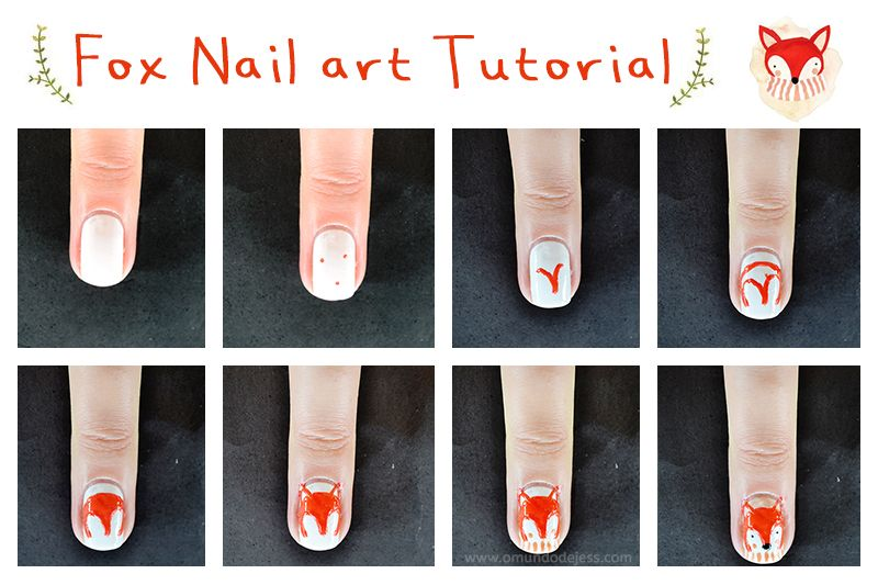 Fox nail art tutorial | Makeup That I Love! | Pinterest ...