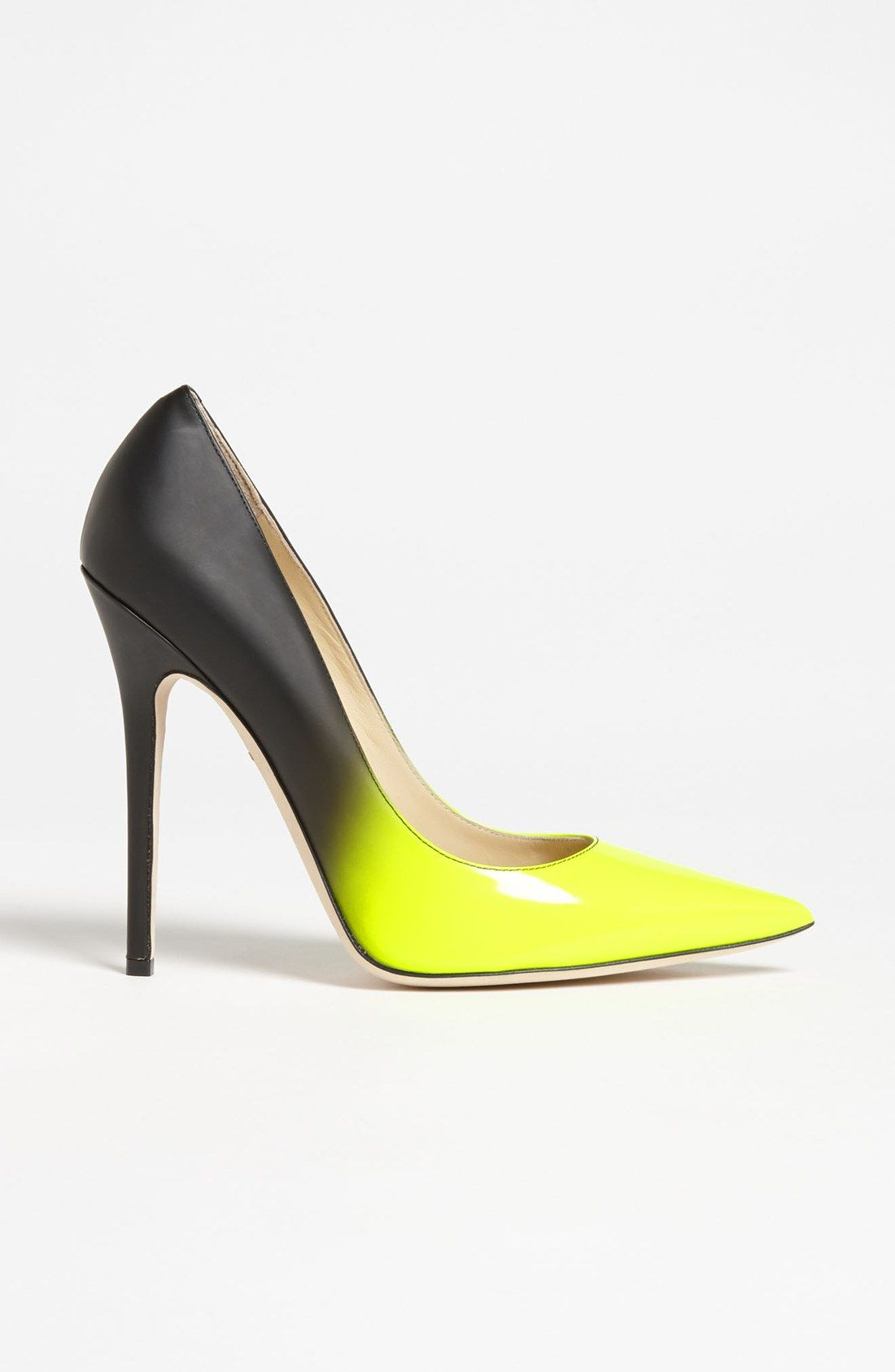 8752909332d4 Jimmy Choo Anouk Dégradé Pump in Yellow (neon yellow   black)