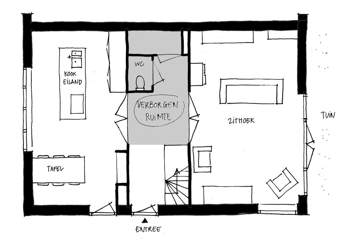Plattegrond woning woonkeuken google zoeken doorsnede for Plattegrond van je huis maken