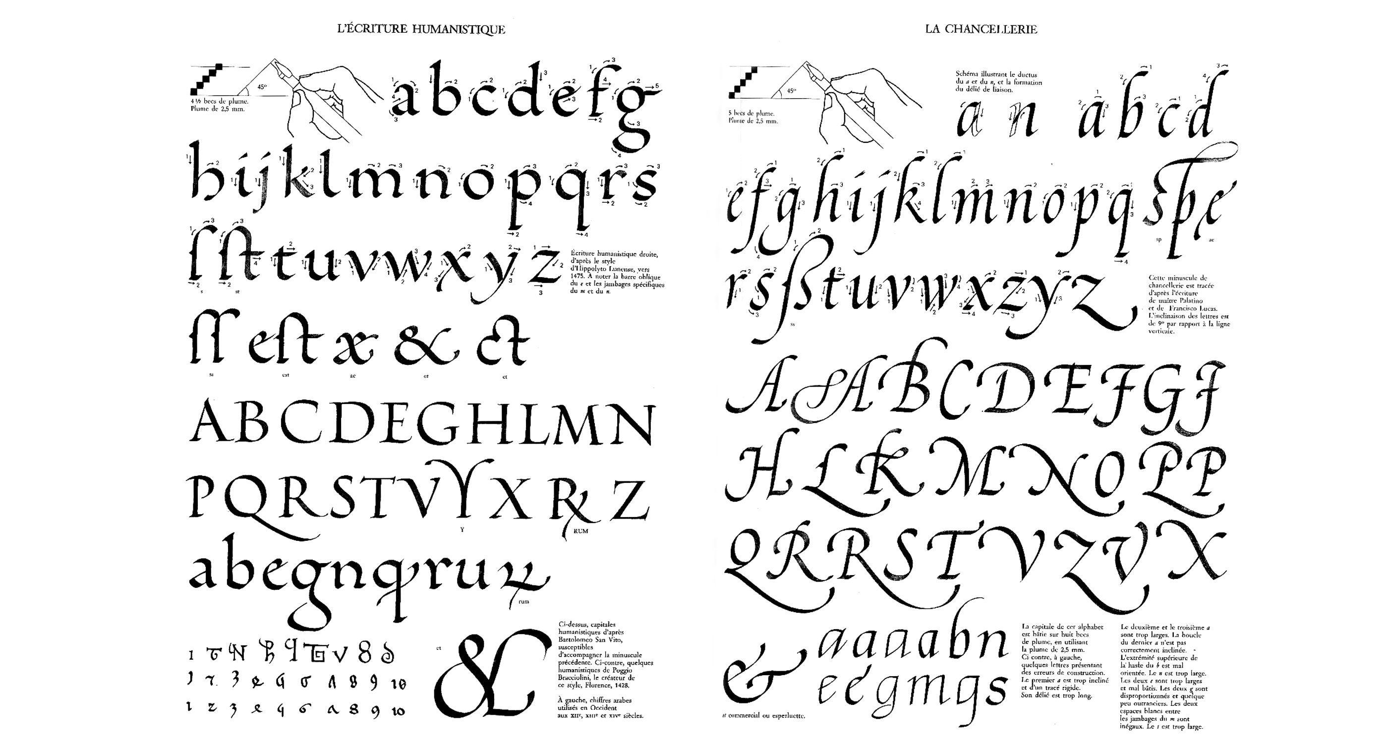 claude mediavilla calligraphie-ecriture humanistique la chancellerie ...