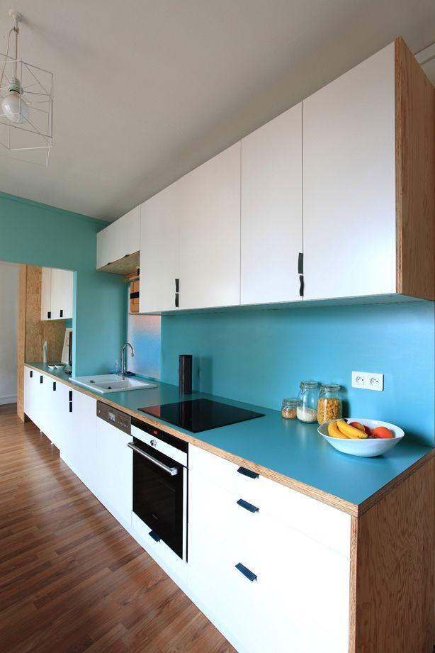 Living-cuisine : La Ligne Bleu (crédence Et Plan De