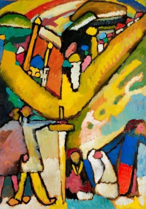 Studie für improvisation 8 by Wassily Kandinsky, 1909