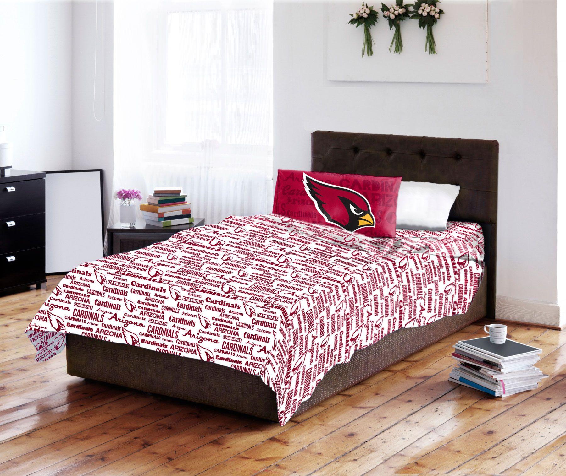 NFL Arizona Cardinals Anthem Bed Sheets And Pillowcase Set