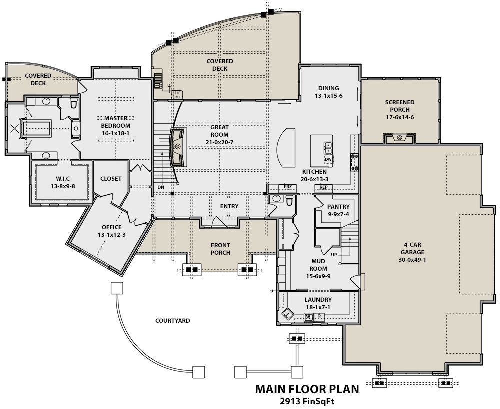 House Plan 5631 00062 Mountain Plan 3 988 Square Feet 4 Bedrooms 5 Bathrooms House Plans Luxury House Plans Floor Plans