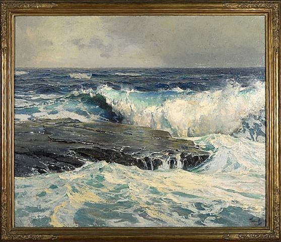 Seascape By Frederick Judd Waugh Seascape Paintings Ocean Painting Seascape