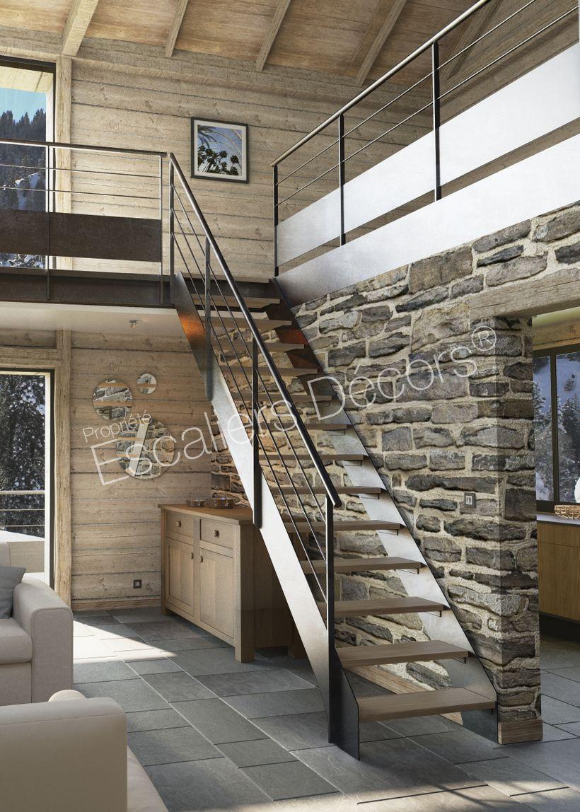 Escalier droit ou 1/4 tournant Contemporain - Escaliers Décors ...