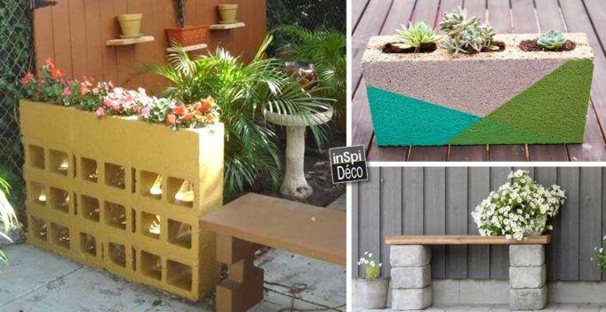 Décorer son jardin avec des parpaings! 20 idées pour vous inspirer - Air Conditionne Maison Prix