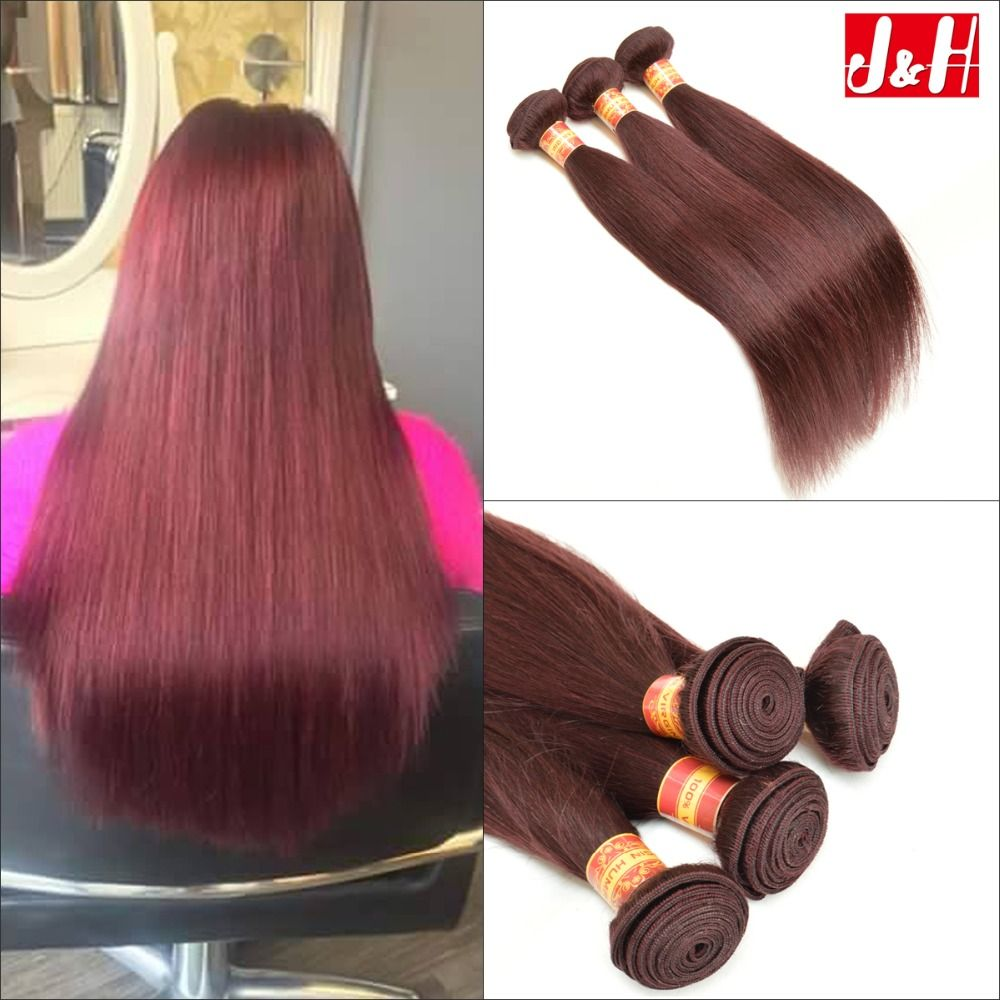 Top 7a Red Wine Brazilian Human Hair Straight 99j Color Cheap Hair Weaves Burgundy Straight Hai Cheap Hair Products Straight Hair Bundles Hair Products Online