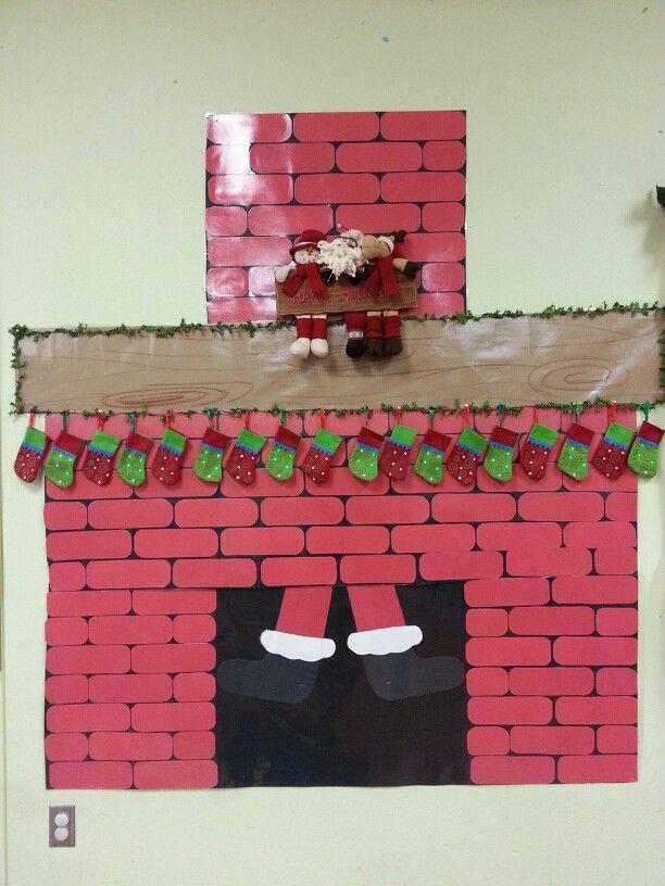 Santa coming down the chimney secret santa ideas for Secret santa craft ideas