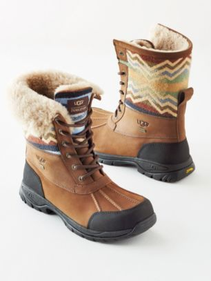 Newest addition to my shoe collection. Limited Edition Ugg Adirondack boots with Pendleton wool inset