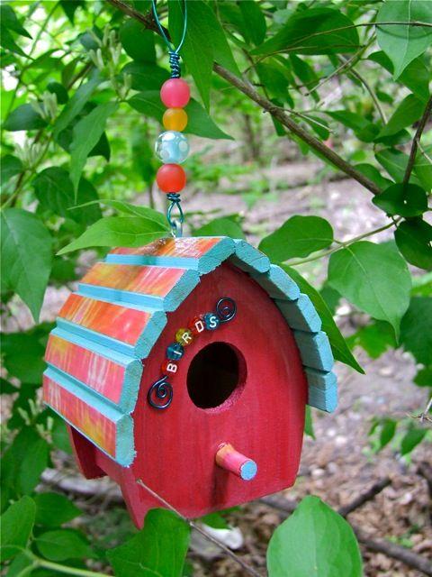 Kids Craft Blog by PlaidOnline.com - Monday Funday: Bird Houses