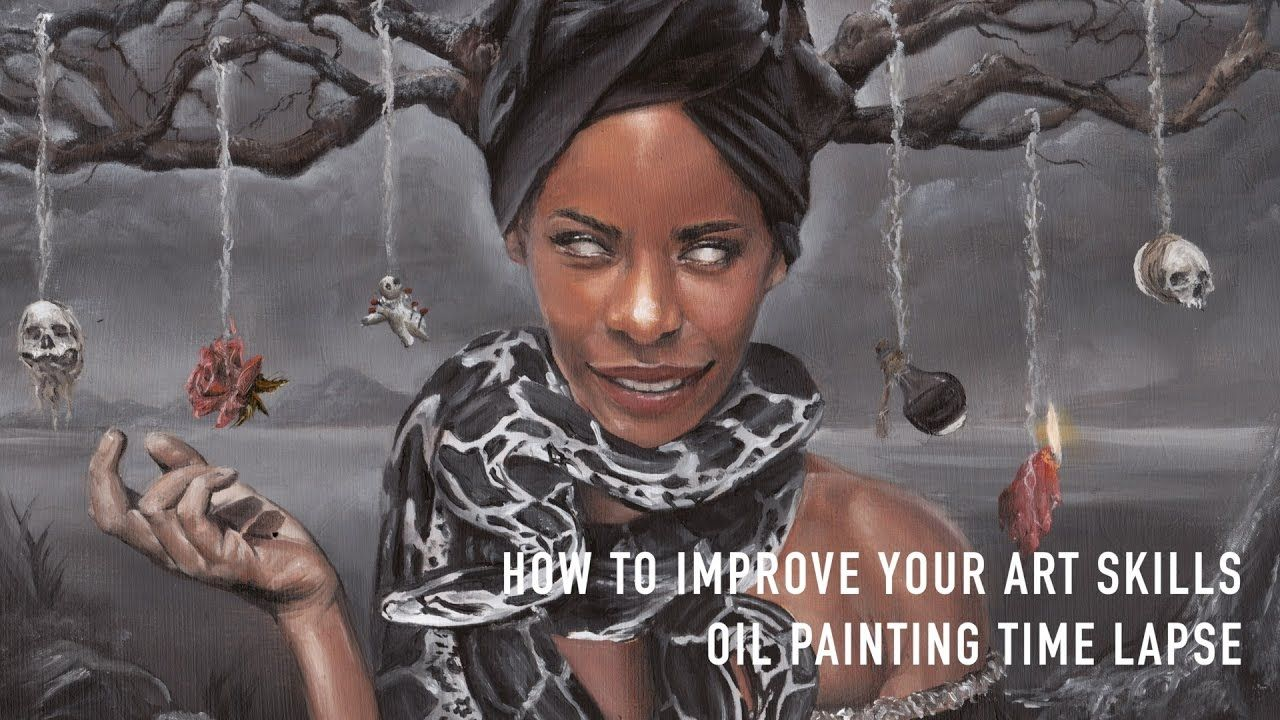 how to improve your art skills surreal dark art oil painting time