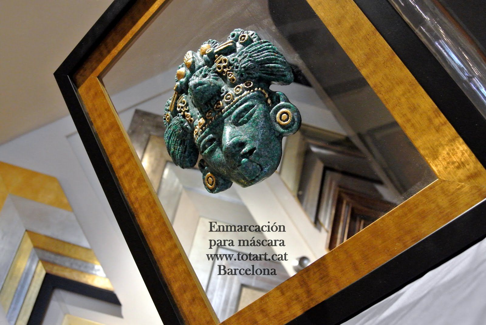 Marcos y molduras para cuadros de máscaras en Barcelona totart.cat ...