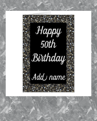 Big Giant Special Personalised 50th Birthday Card Zazzle Com 50th Birthday Cards 50th Birthday Birthday Cards