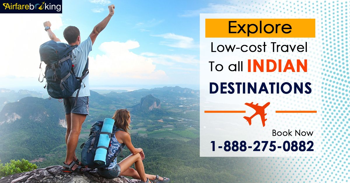 Explore your favourite Indian Destinations at lowest airfares. Grab great offers on your next trip to India with Airfarebooking. Enquire your flight now!   For more information call us at- 1-888-275-0882 (Toll-Free).  #TraveltoIndia #IndianDestinations #Travel #traveldeals #FlightOffers #BestDeal #CheapestAirfare #cheapestflighttickets #TouristsAttractions #Holidays #Vacations #Tour #BookNow