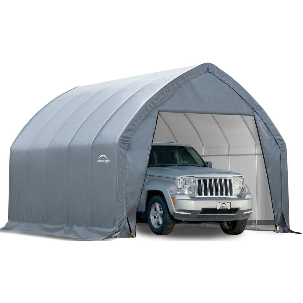 Shelterlogic Accelaframe 12 Ft W X 10 Ft D Hd Gray Shelter Grays Small Trucks Shed Storage Garage