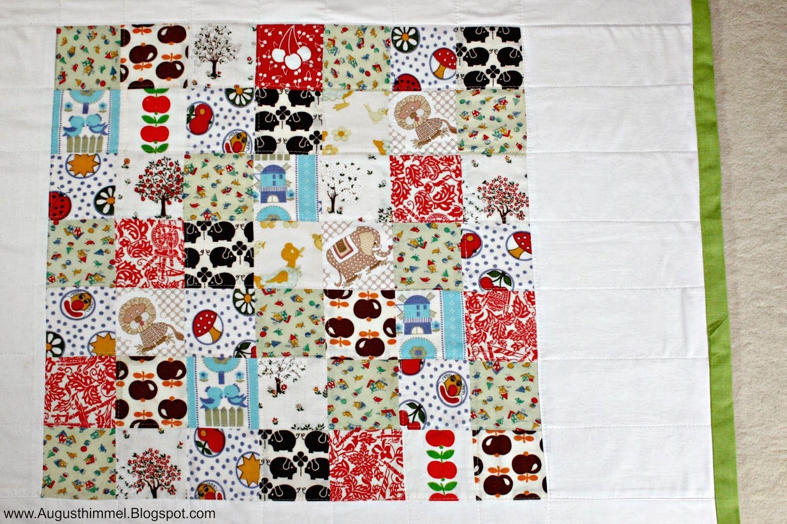 quilt aus stoffresten und alter bettw sche quilt made from scraps of fabric and old bed linen. Black Bedroom Furniture Sets. Home Design Ideas