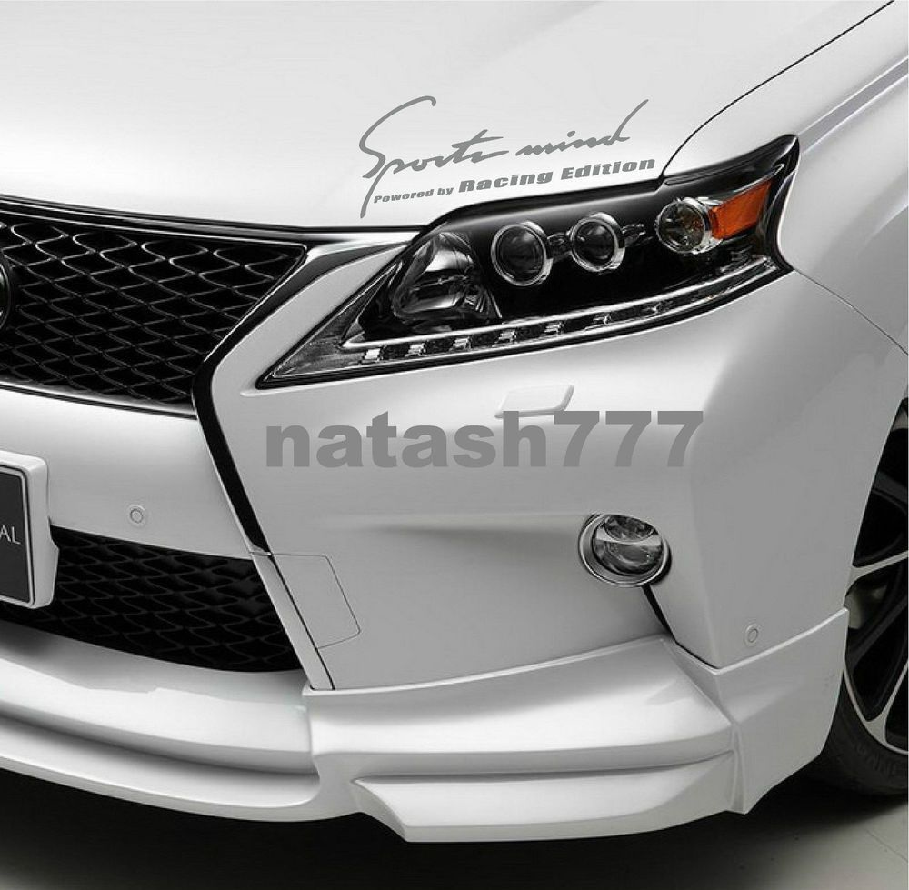 Sports Mind Powered By Racing Edition Decal Sticker Silver Fits Mitsubishi Natash777 Decals Stickers Car Decals Stickers Lexus