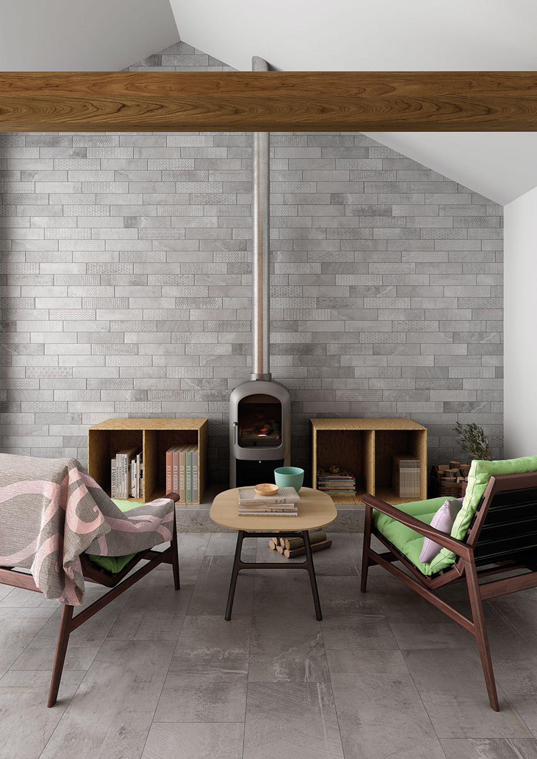 Cerámica BRICKBOLD en tonos grises de Gayafores. | Interior Designs ...