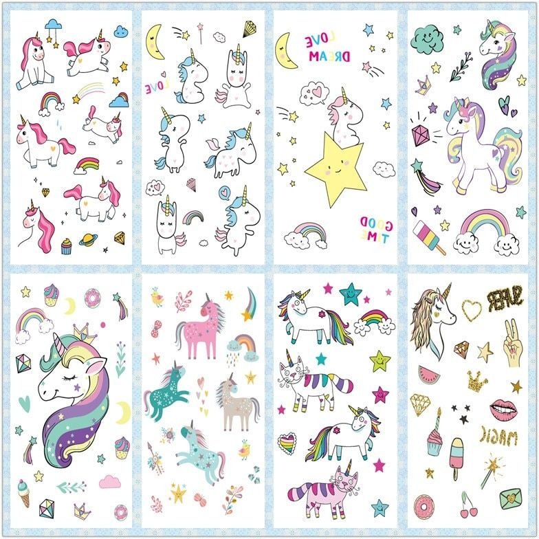 Photo of Rocooart Cartoon Unicorn Tattoo For Kid Cute Fake Taty Children Tatouage Temporaire Body Art Waterproof Temporary Tattoo Sticker