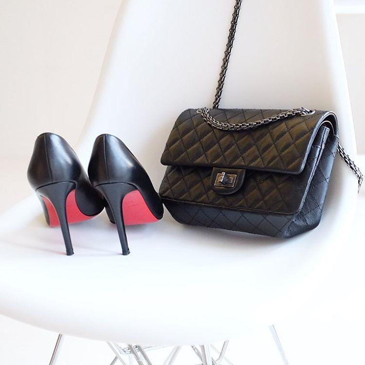 perfect combo work prada saffiano argilla luxe tote maison valentino rockstud shoes yasmin_dxb instagram perfect combo pinterest instagram