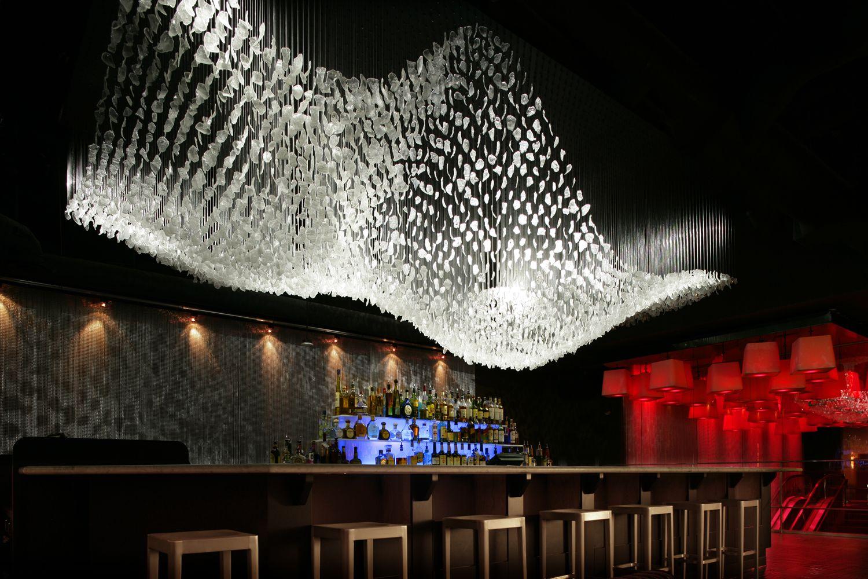 bespoke light installation by eva menz for 210 north nightclub reno