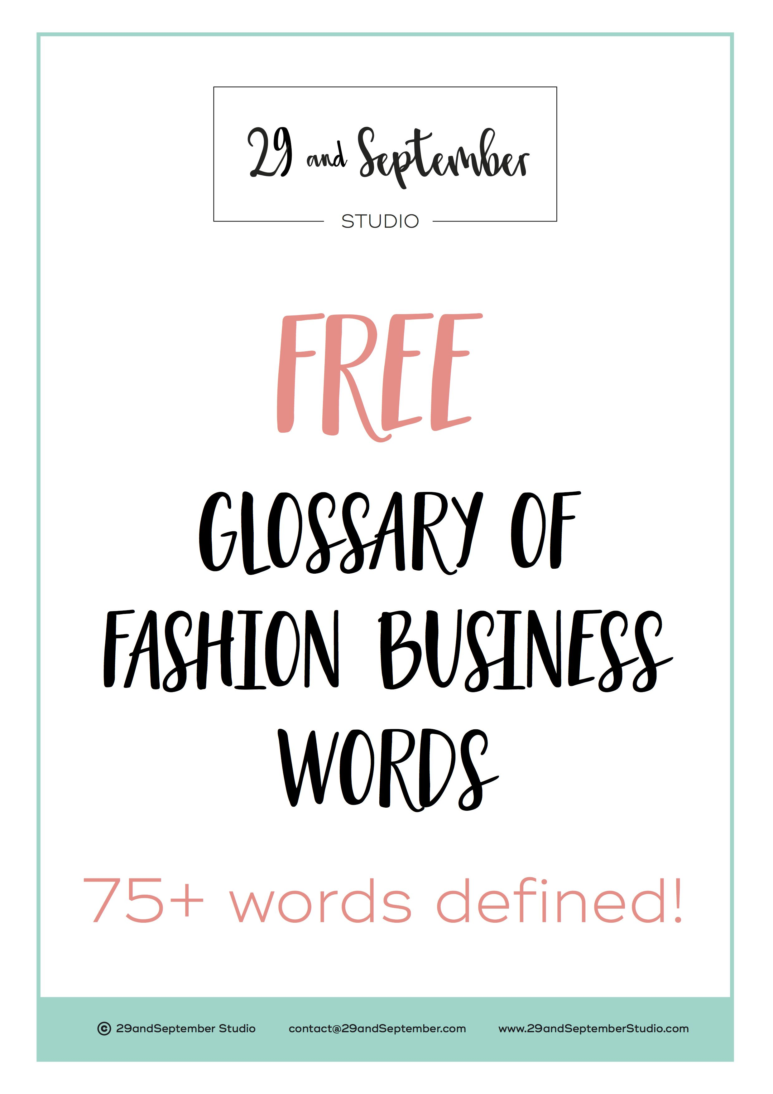 How do you find the terminology of fashion words?