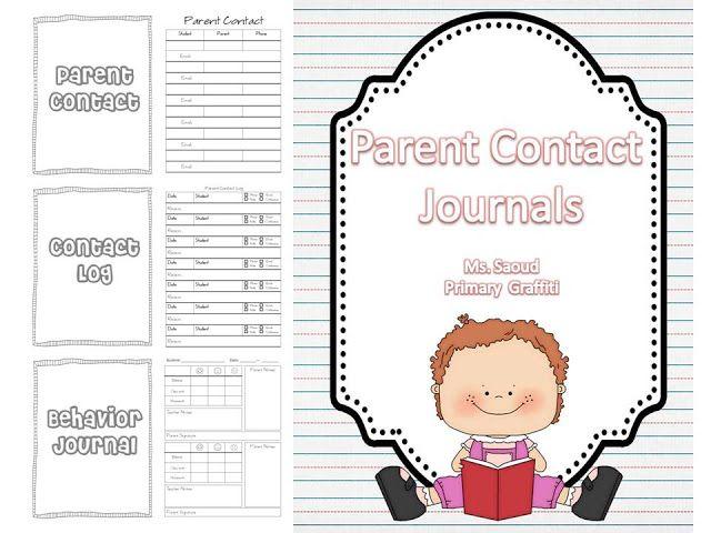 Like parent contact log Kindergarten - Teacher Stuff Pinterest - contact log template