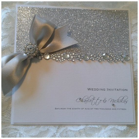 Handmade Luxury All That Glitters crystal by CrystalCoutureInvite – Handmade Luxury Wedding Invitations