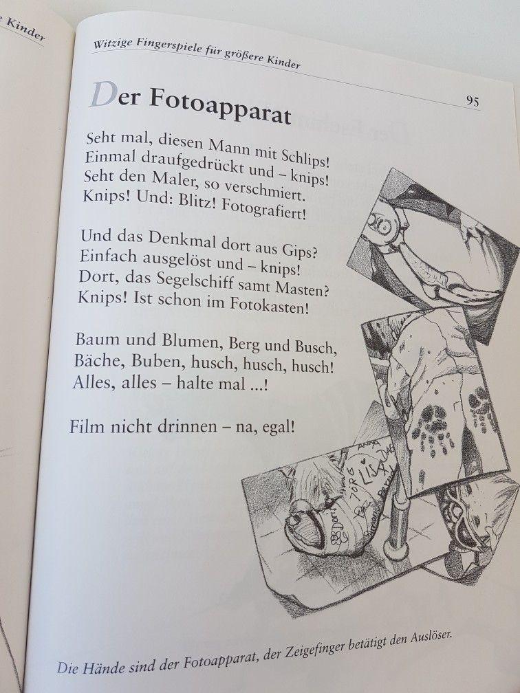 Der Fotoapparat #fingerspiel #krippe #kita #kindergarten #kind #reim ...