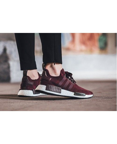 Adidas Nmd R1 Red Wine White Women Cheap 169 99 56 19 Adidas