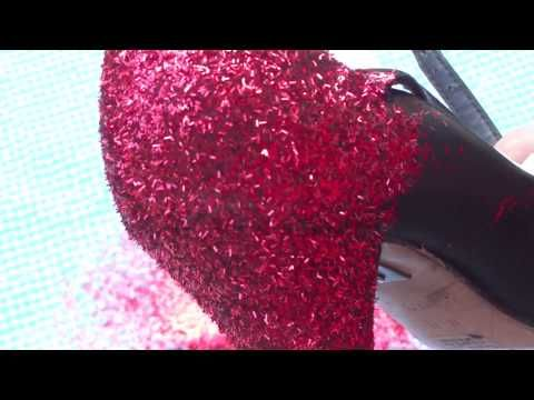DIY: Glitter Your Shoes! (Dorothy Shoes) - YouTube