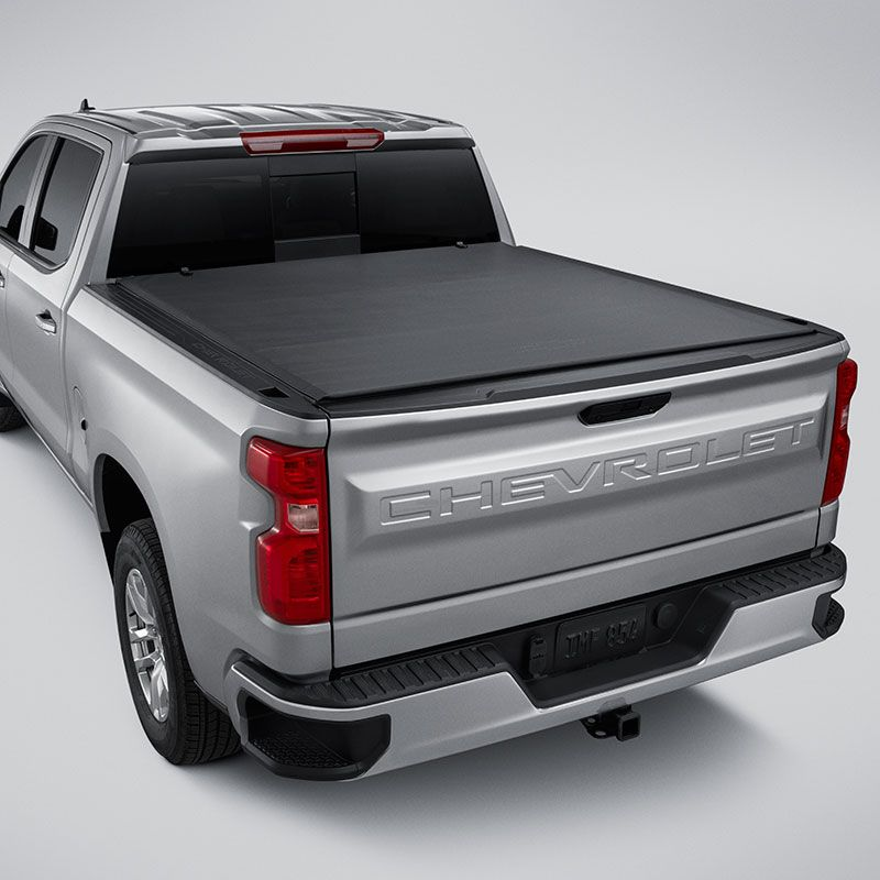 2019 Silverado 1500 Tonneau Cover Soft Roll Up Short Box Bowtie