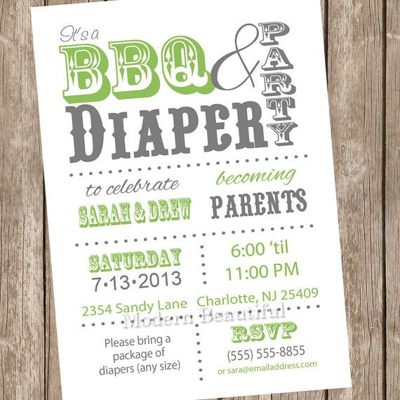White and green couples bbq and diaper baby shower invitation green white and green couples bbq and diaper baby shower invitation green white diaper filmwisefo Gallery