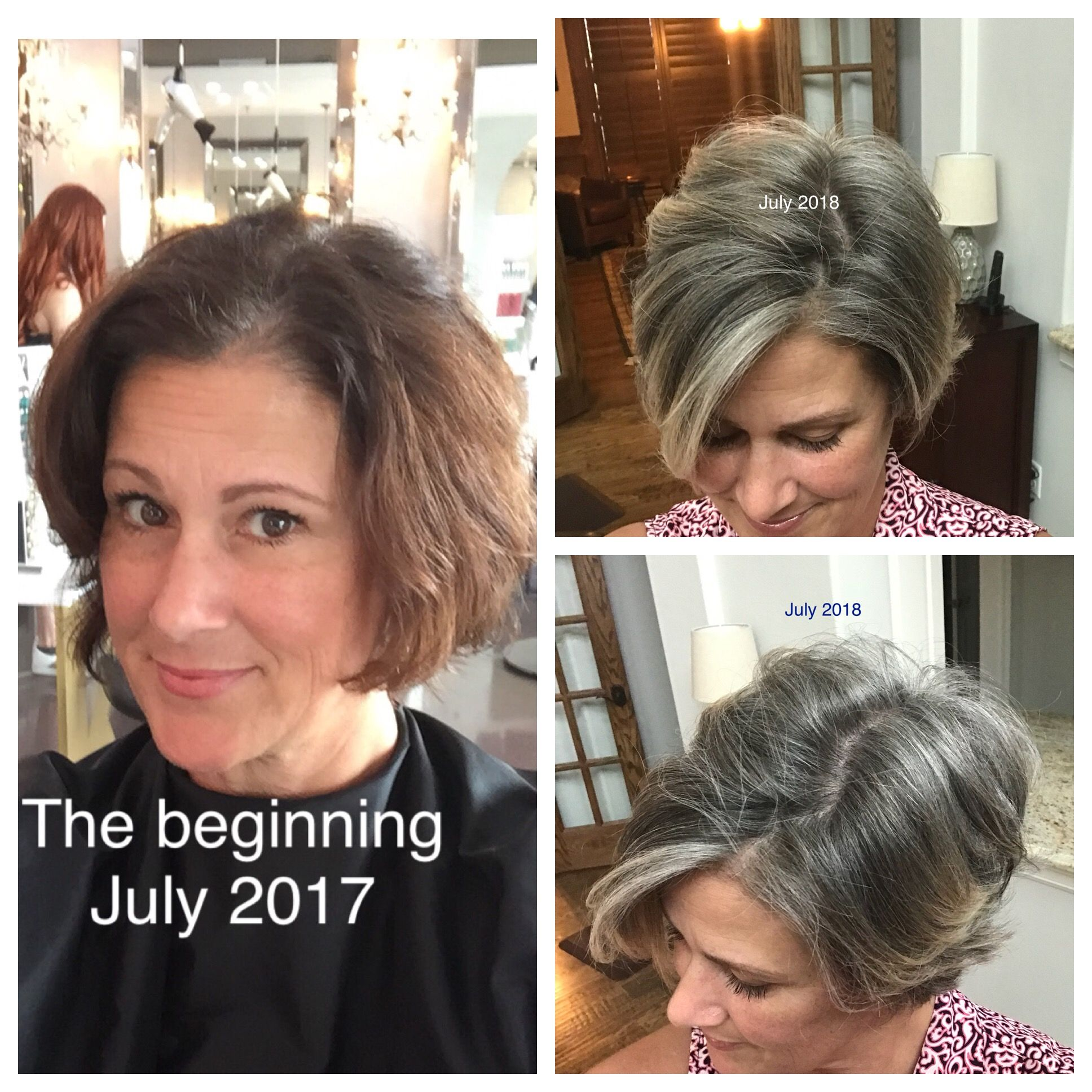Going Gray 1 Year Mark Gray Hair Growing Out Blending Gray Hair Gray Hair Beauty