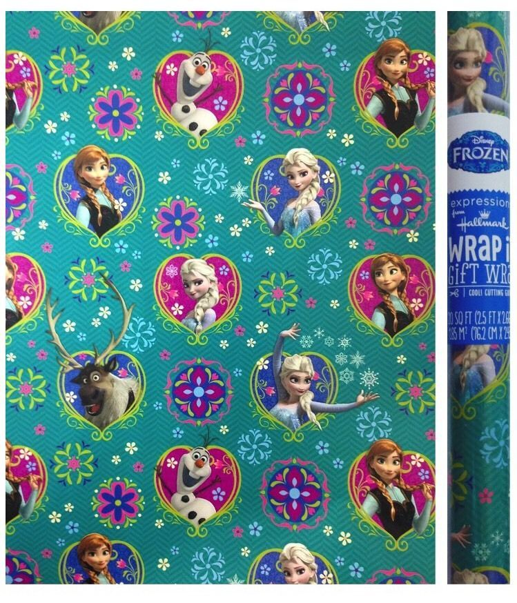 Anna and Elsa Olaf Personalised Gift Wrap Disney/'s Frozen Wrapping Paper