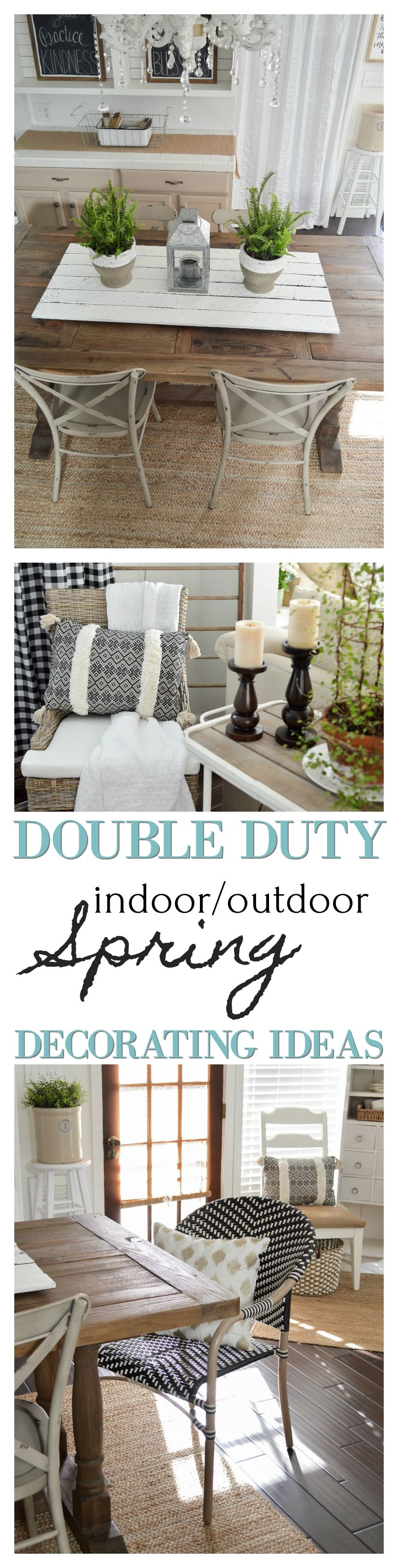 Double duty indoor decorating ideas for Spring with outdoor furniture and decor from Better Homes & Gardens at www.foxhollowcottage.com #sponsored | Simple, affordable cottage Farmhouse decorating inspiration that'll working inside now, and outside for BBQ's, patio parties and Summer outback fun!