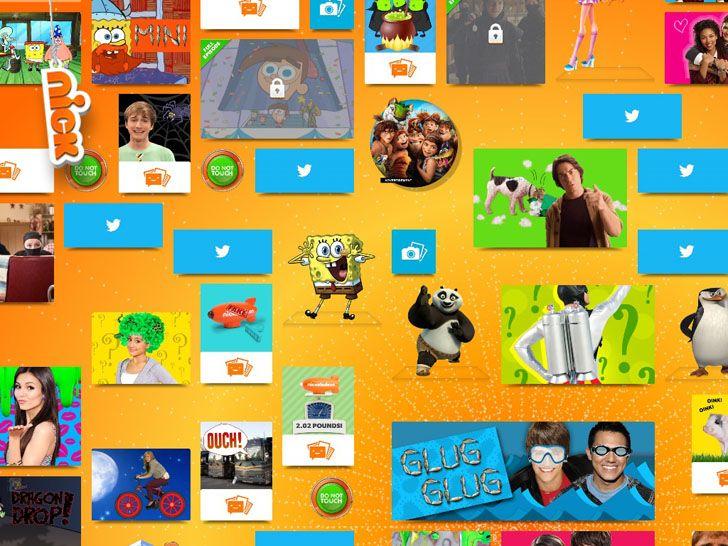 Nick iPad app. Tailormade gadgets, cool animations, nice