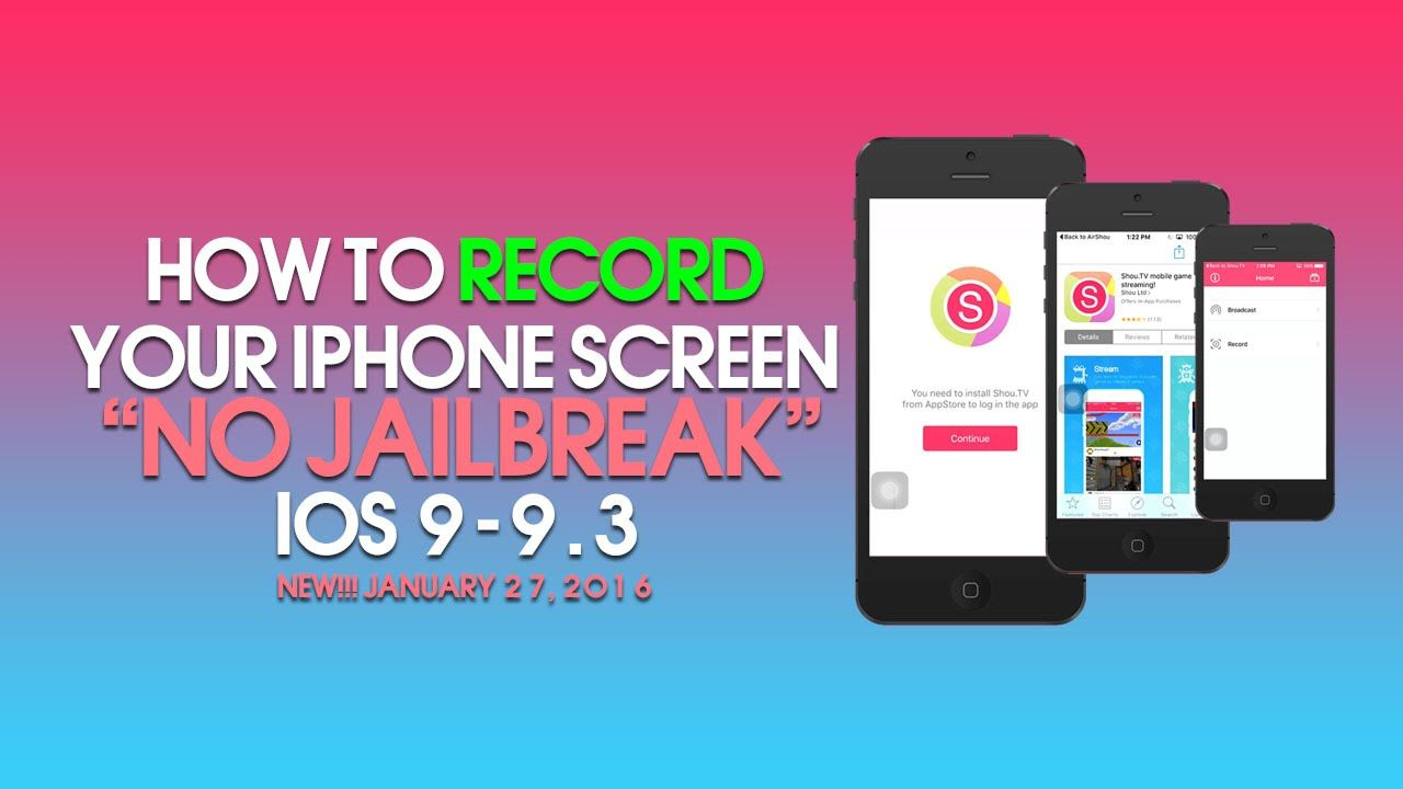 How To Record Your iPhone Screen Without A Jailbreak iOS 9