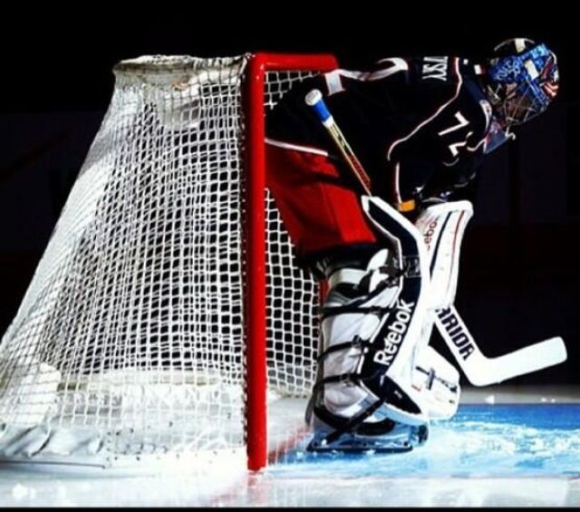 Sergei Bobrovsky #72 Columbus Blue Jackets. Love this picture.