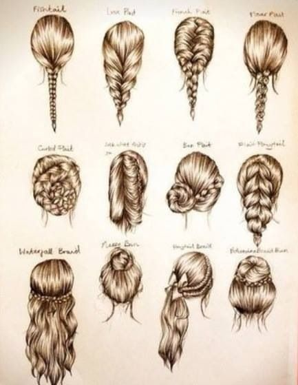 These Hairstyles Are All So Cute And They Re Great Because No Heat Is Needed So You Won T Be Damaging Your Hair Hair Styles Hair Beauty Long Hair Styles