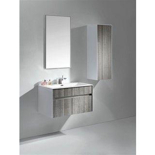 Kubebath Fitto 32Inch Ash Grey Single Sink Bathroom Vanity Stunning Shop Bathroom Vanities 2018