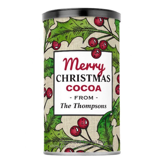 Christmas Cocoa Mix   Holly Wreath    Christmas Cocoa Mix   Holly Wreath