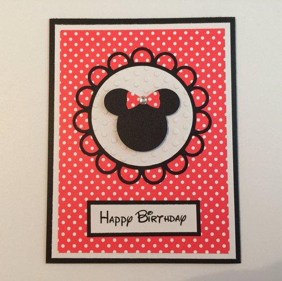 Handmade Minnie Mouse Birthday Card